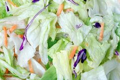 Tossed salad background Royalty Free Stock Photos