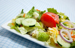 Tossed Salad on a plate with a fork Stock Photo