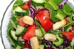 Tossed Salad Up Close Stock Images
