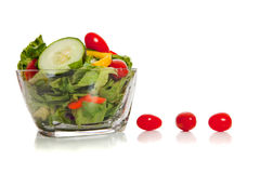 Tossed salad with various vegetables stock photo