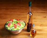 Tossed salad with vinegar and oil Stock Image