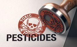 Tossicità degli antiparassitari, segnale di pericolo Fotografia Stock Libera da Diritti