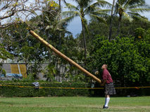 Tossing Caber Royalty Free Stock Images