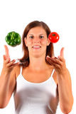 Tossing Up Those Vitamins Stock Photography