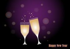 Tostada al Año Nuevo stock de ilustración