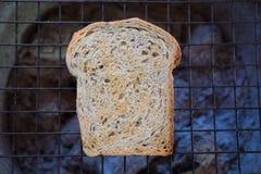 Tostada asada a la parrilla trigo integral Imagen de archivo libre de regalías