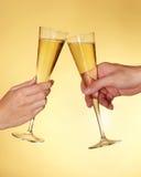 Tostada con champán fotografía de archivo libre de regalías