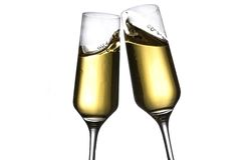 Tostada con champán Foto de archivo