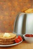 Tostada con mantequilla y jalea Foto de archivo libre de regalías