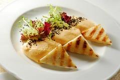 Tostada con queso suave Foto de archivo libre de regalías