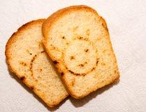 Tostada con una cara sonriente Imágenes de archivo libres de regalías