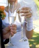 Tostada de la boda Foto de archivo