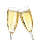 Tostada de la celebración con champán Foto de archivo libre de regalías