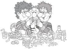 Tostada de la diversión en un partido fotografía de archivo libre de regalías