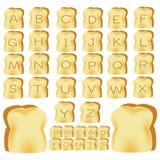 Tostada de los alfabetos Imágenes de archivo libres de regalías