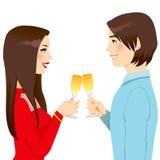 Tostada del amor del aniversario Imagen de archivo