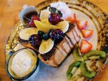 tostada del chocolate del shibuya de la fruta Fotografía de archivo
