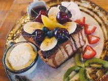 tostada del chocolate del shibuya de la fruta Foto de archivo libre de regalías