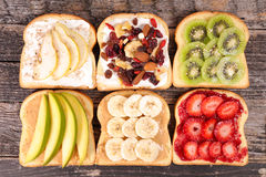Tostada del desayuno Imagenes de archivo