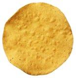 Tostada do milho isolado no branco Imagens de Stock