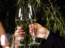 Tostada en champán Foto de archivo