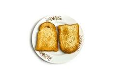 Tostada en una placa Fotos de archivo