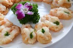 Tostada frita del camarón Fotos de archivo libres de regalías