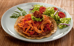 Tostada and salad Royalty Free Stock Photo