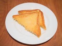 Tostada untada con mantequilla del ajo Foto de archivo libre de regalías