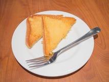 Tostada untada con mantequilla del ajo Imagen de archivo libre de regalías