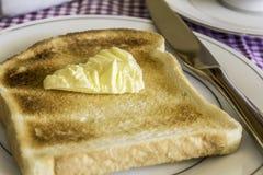 Tostada y mantequilla Foto de archivo