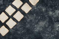 Tostadas con mantequilla Imagen de archivo