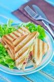 Tostadas con queso Fotografía de archivo