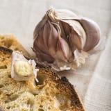 Tostadas del pan de ajo fotos de archivo