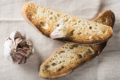 Tostadas del pan de ajo fotos de archivo libres de regalías