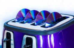 Tostapane dei dischi di DVD Immagine Stock