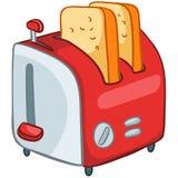 Tostapane domestico della cucina del fumetto Fotografie Stock
