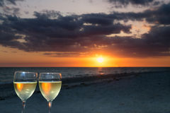 Tostatura del tramonto di Sanibel Fotografie Stock
