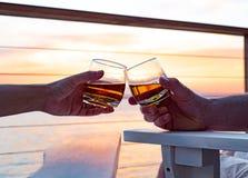 Tostatura del whiskey Fotografie Stock