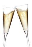 Tostatura delle scanalature di Champagne immagini stock libere da diritti