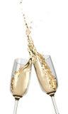 Tostatura delle scanalature di Champagne Immagine Stock Libera da Diritti