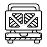 Toster-Vektorikone lizenzfreie abbildung