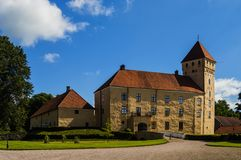 Tosterup Castle front skane sweden. Tosterup castle in southern Sweden Royalty Free Stock Images