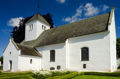 Tosterup Church in skane region of sweden. The  stone church in the skane region of Sweden Royalty Free Stock Photo