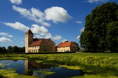 Tosterup-Schloss-Rückseite skane Schweden Lizenzfreie Stockbilder