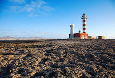 Toston lighthouse, El Cotillo Stock Images