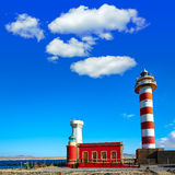 Toston lighthouse in El Cotillo at Fuerteventura Royalty Free Stock Photography
