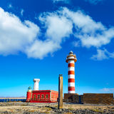 Toston lighthouse in El Cotillo at Fuerteventura Stock Photo