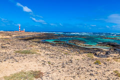 Toston Lighthouse - El Cotillo,Fuerteventura,Spain Stock Images