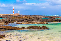 Toston Lighthouse - El Cotillo,Fuerteventura,Spain Stock Photography